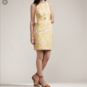 Ann Taylor Floral Jacquard Sheath Dress